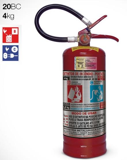 Extintor de Pó | BC | 4kg | 20bc