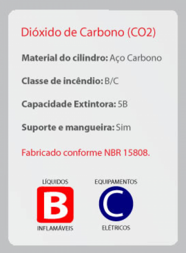 Extintor de CO2 | BC | 6kg