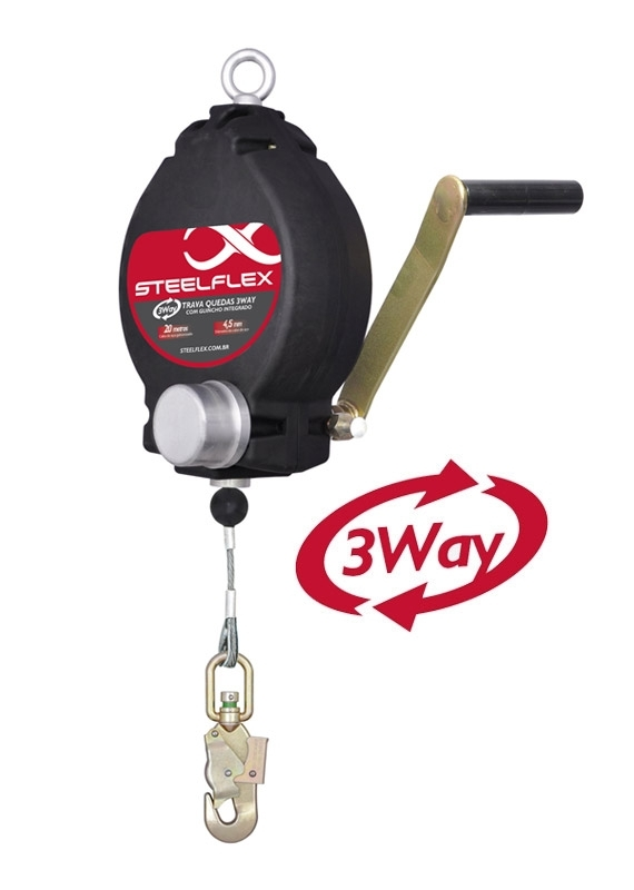 Trava quedas Retrátil | 3Way | TW0452| Steelflex