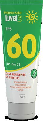 Creme (Luvex) Solar FPS60 com repelente