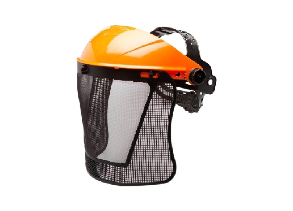 Conjunto de protetor facial malha e suporte