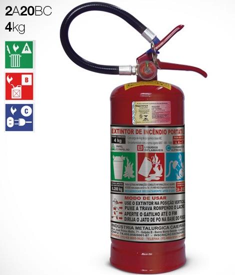 Extintor de Pó | ABC | 4kg | 2A-20BC