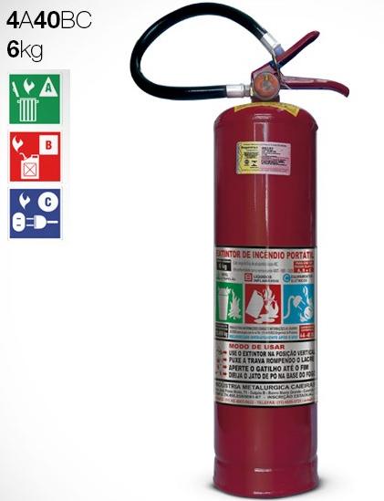 Extintor de Pó | ABC | 6kg | 4A-40BC