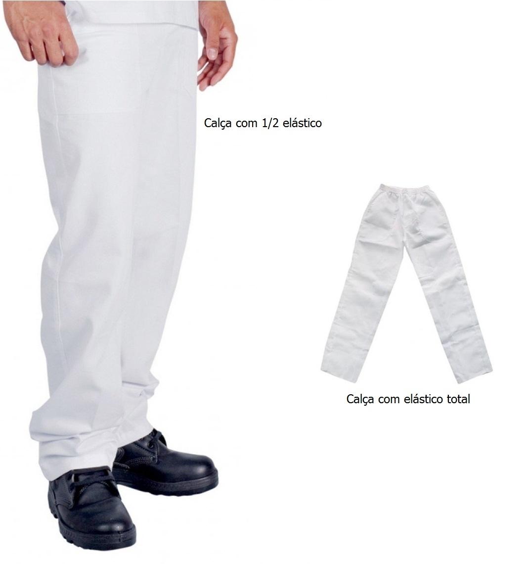 Calça de Brim   Branca